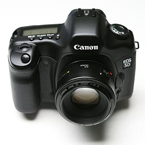 Canon 50mm f1.8 and 5D camera