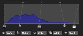 Cross processing - Blue levels